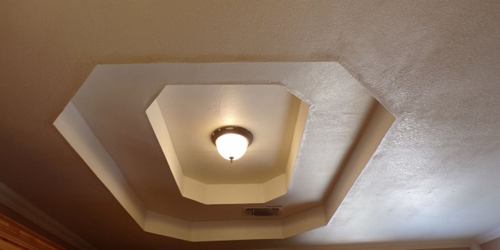 Tray Ceiling in Kitchen